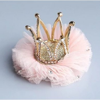 Corona rosa con pinza