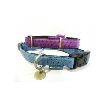 Collar mac leather azul